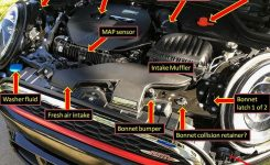 F56: Under The Bonnet – Page 2 – 2015 Mini Cooper Forum within Mini Cooper Engine Bay Diagram