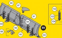 Fisher Minute Mount V Snow Plow Blades in Fisher Snow Plow Parts Diagram
