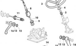 Ford 3000 Manual Steering Gearbox Parts | Ford Gearbox Parts within Ford 3000 Tractor Parts Diagram