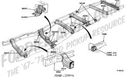 Ford Truck Technical Drawings And Schematics – Section D – Frame with regard to Ford F150 Body Parts Diagram
