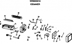 Ge Icemaker Parts | Model Wr30X0318 | Sears Partsdirect for Ge Ice Maker Parts Diagram