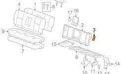 Gm Oem Rear Seat-Anti-Rattle Bumper Cushion Bracket 22771139 | Ebay in Gm Parts Diagrams And Part Numbers
