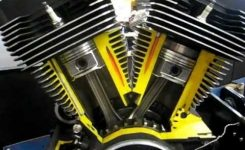 Harley Big Twin Engine Cutaway View – Youtube throughout Harley Twin Cam Engine Diagram