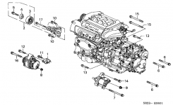 Honda Accord 2 Door Ex (V6) Ka 4At Alternator Bracket (V6) in 1999 Honda Accord V6 Engine Diagram