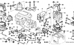 Honda Accord 2 Door Ex (V6 Navigation) Kl 6Mt Engine Mounts (V6) pertaining to 2004 Honda Accord Parts Diagram