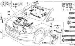 Honda Accord 4 Door Ex (V6) Ka 5At Engine Wire Harness (V6) within 2003 Honda Accord Engine Diagram