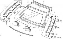 Honda Accord 4 Door Lx (Abs) Ka 4At Front Windshield pertaining to 1997 Honda Accord Parts Diagram