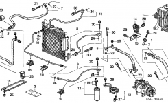 1995 honda civic heater hose diagram  honda  auto parts