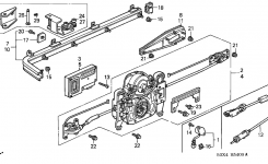 Honda Odyssey 5 Door Ex Ka 5At Slide Door Motors intended for 2003 Honda Odyssey Parts Diagram