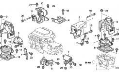 Honda Odyssey 5 Door Exl (Res) Ka 5At Engine Mounts throughout 2006 Honda Odyssey Engine Diagram