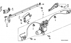 Honda Odyssey 5 Door Exl (Res) Ka 5At Slide Door Motors within 2005 Honda Odyssey Parts Diagram