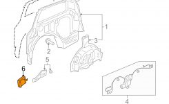 Honda Oem 05-07 Odyssey Side Sliding Door-Control Module for Honda Odyssey Sliding Door Parts Diagram