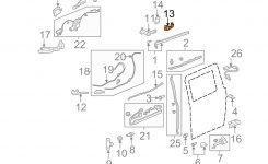 Honda Oem 72561Shja21 05-10 Odyssey Side Loading Door-Plate Left for Honda Odyssey Sliding Door Parts Diagram