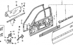 Honda Online Store : 1993 Accord Door Panel Parts with 1993 Honda Accord Parts Diagram