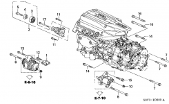 Honda Pilot 5 Door Lx Ka 5At Alternator Bracket throughout 2003 Honda Pilot Parts Diagram