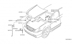 Hood Panel,hinge & Fitting For 2003 Nissan Altima throughout 2003 Nissan Altima Parts Diagram