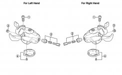 How To Reassemble A Shimano Alivio Shifter – Bicycles Stack Exchange with regard to Shimano Ultegra Shifter Parts Diagram