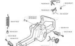 Husqvarna 350 (2004-03) Chainsaw Fuel Tank Spare Parts Diagram throughout Husqvarna 350 Chainsaw Parts Diagram