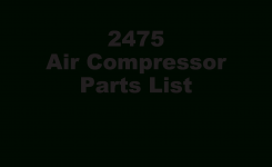 Ingersoll Rand 2475 Parts Manual – Documents pertaining to Ingersoll Rand Air Compressor Parts Diagram