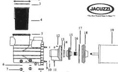 Jacuzzi Cygnet Pool Pump Parts – Discount Parts For Jacuzzi Pumps with regard to Jacuzzi Pool Pump Parts Diagram