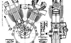 "Jap V-Twin Engine "" Canvas Printsmanuuu21 