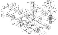 Jet J-3410-2 Band Saw Parts with Jet Band Saw Parts Diagram