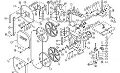 Jet Jwbs-14Cs Band Saw Parts within Jet Band Saw Parts Diagram