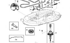 "John Deere 42"" D100 Series Deck Parts Diagram intended for John Deere Deck Parts Diagram"