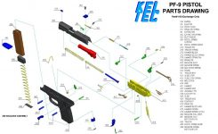 Kel-Tec Pf-9 Parts Diagram – Muzzle First within Kel Tec Pf9 Parts Diagram