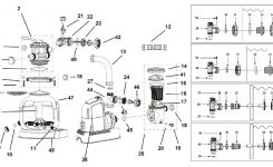 Krystal Clear Sand Filter Pump & Saltwater System Cg-56677, 110 inside Intex Pool Pump Parts Diagram