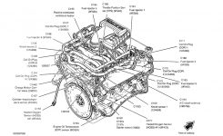 Location Of The Coolant Temperature Sensor: Engine Mechanical in Ford 5.4 L Engine Diagram