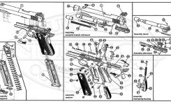 M1911 .22Lr Schematic | Numrich with Sig Sauer 1911 Parts Diagram