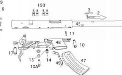 Mark Ii Series – Savage Arms Mark I Ii 93 Striker within Savage Mark Ii Parts Diagram