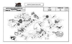 Mcculloch Eager Beaver Ebc1840Dk Chainsaw Service Parts List in Eager Beaver Chainsaw Parts Diagram