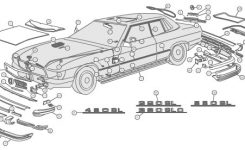 Mercedes Body Parts – Mercedes Parts And Accessories throughout Car Exterior Body Parts Diagram