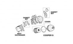Mini Cooper Oil Filter Housing Parts Oem Gen2 R55- in Mini Cooper S Parts Diagram
