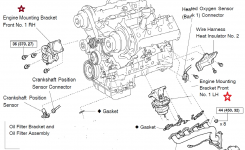 Motor Mount & Transmission Mount Location Diagram – Clublexus with regard to 1999 Lexus Es300 Engine Diagram