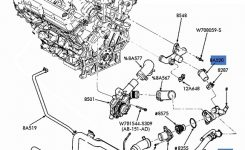 New Oem Upper Radiator Hose & Tube 2003-2007 Ford Taurus Mercury for 2000 Mercury Sable Engine Diagram