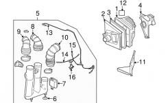 Oem 2003 Cadillac Cts Air Intake Parts | Gmpartsonline with regard to 2003 Cadillac Cts Parts Diagram