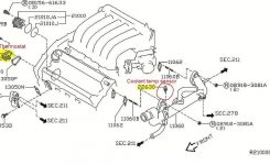 P0125 2006 Nissan Maxima Engine Coolant Temperature Sensor inside 2006 Nissan Maxima Engine Diagram