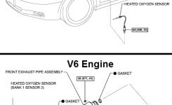 P0136 2011 Toyota Camry Oxygen Sensor Circuit Malfunction (Bank 1 with regard to 2011 Toyota Camry Parts Diagram