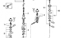 Parts For The Bridgeford Collection From Grohe pertaining to Grohe Kitchen Faucet Parts Diagram