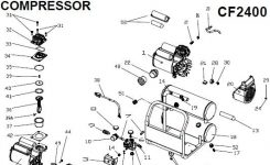 Porter Cable Cf2400 Oil Free Compressor, Breakdown, Parts List regarding Porter Cable Compressor Parts Diagram