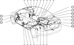 Position Of Parts In Body – Toyota Corolla 2004 Wiring with regard to Toyota Camry Body Parts Diagram