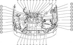 Position Of Parts In Engine Compartment – Toyota Sienna 1997-2003 in 2006 Toyota Sienna Parts Diagram