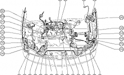 Position Of Parts In Engine Compartment – Toyota Sienna 1997-2003 with 2000 Toyota Corolla Engine Diagram
