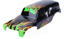 Rc Car Spare Parts Shell For Traxxas Grave Digger Rc 1/10 Rtr throughout Traxxas Grave Digger Parts Diagram