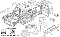 Sbl Automotive for Land Rover Discovery Parts Diagram