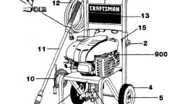 Sears & Craftsman Pressure Washer Model 919762350 Replacement with regard to Craftsman Pressure Washer Parts Diagram