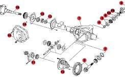 Shopdiagram – Jeep Axle Parts – Axle For Grand Cherokee Rear in 2005 Jeep Grand Cherokee Parts Diagram